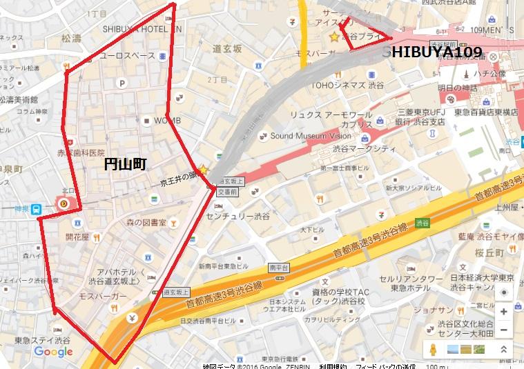 円山町地図