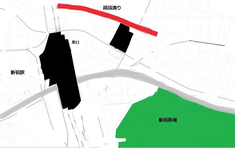 靖国通り地図