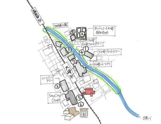 大崎 地図
