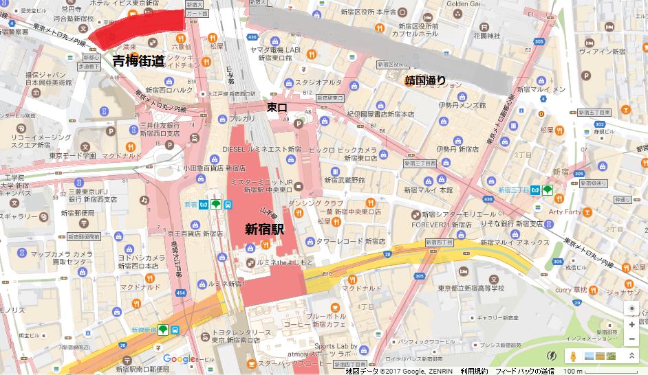 青梅街道マップ