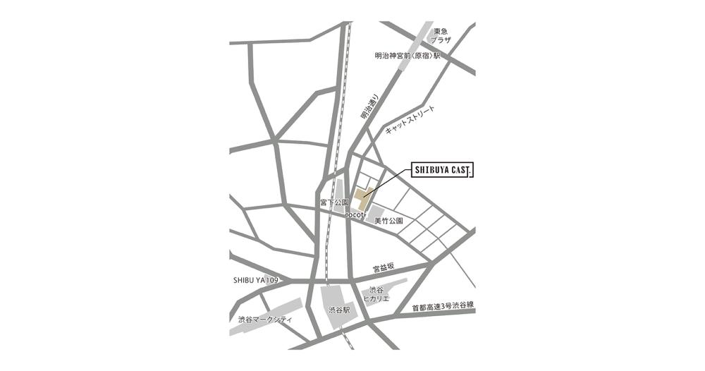 渋谷キャスト店舗地図