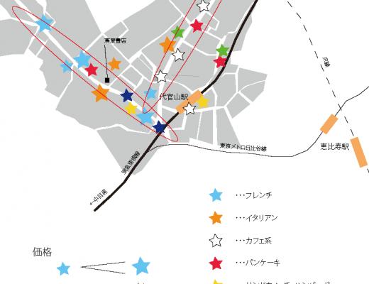 代官山人気店舗マップ
