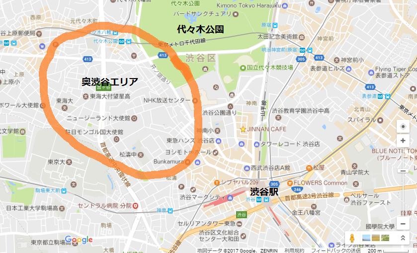 奥渋谷地図