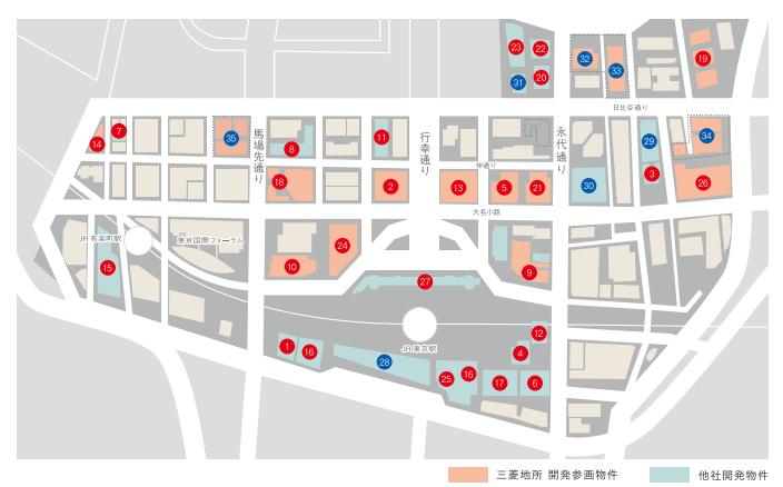 丸の内店舗マップ