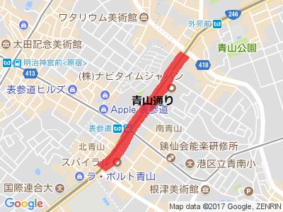 青山通り地図