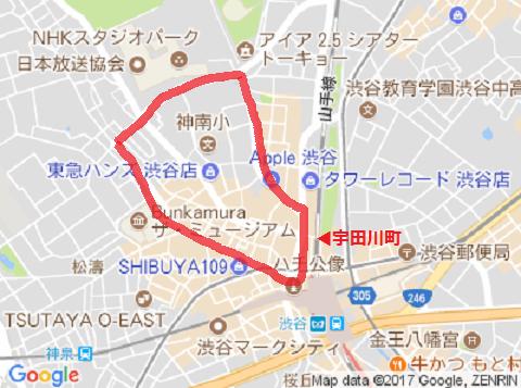 宇田川町 地図