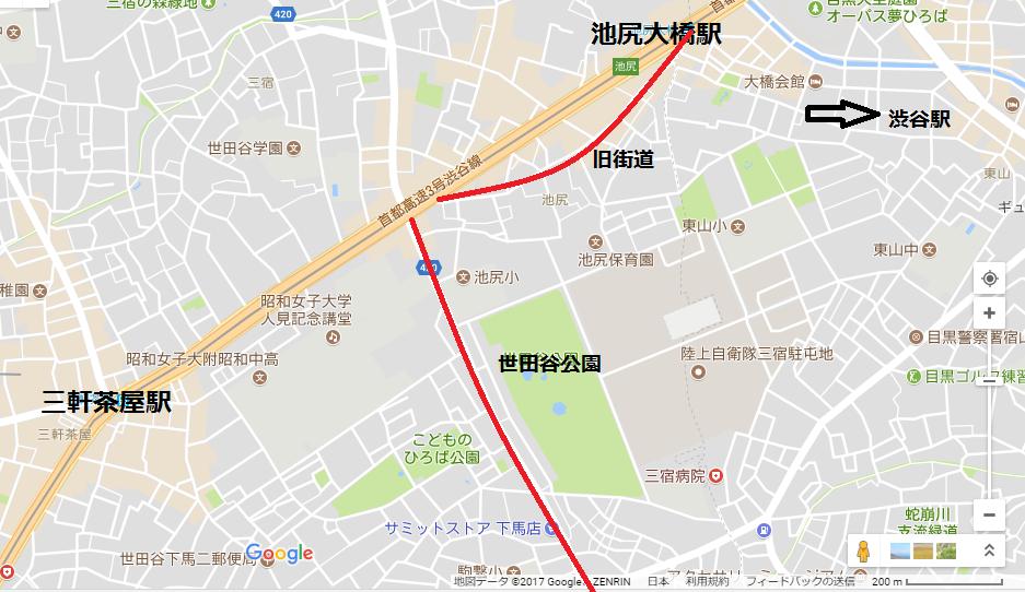 池尻大橋_地図