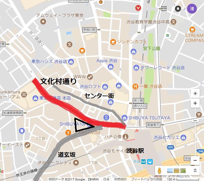文化村通り地図