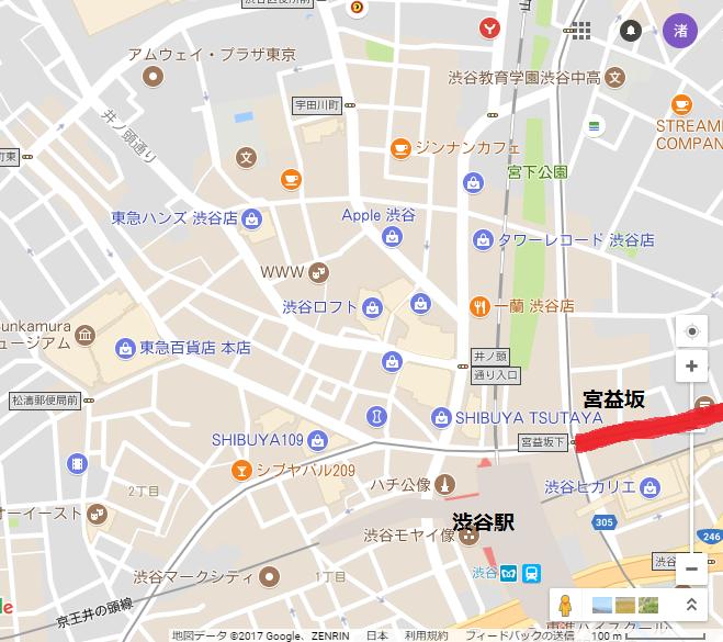 渋谷地図宮益坂