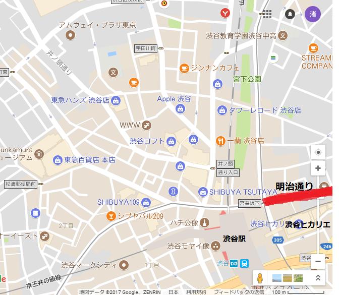 渋谷地図明治通り